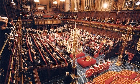 Crowds gathered in the house of Lords