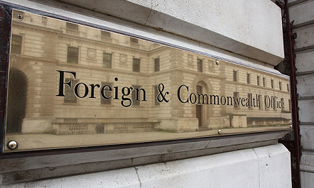 Sign for the Foreign and Commonwealth Office
