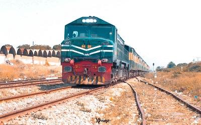 A train in Karachi, Pakistan
