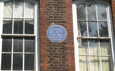 Photo of George Eliot's former home, taken by giuliaduepuntozero in 2007