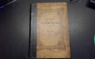 Photo shows front cover of Giovanni Boccaccio's Decameron