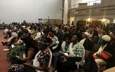 A photo of audience members at the Sisters not Strangers conference in February 2020
