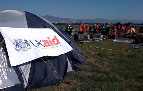 UK Aid camp