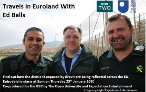 Travel Euroland with Ed Balls poster