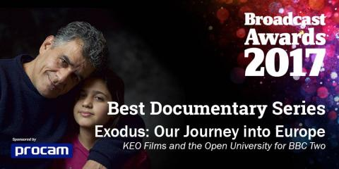 Exodus: Our Journey to Europe wins Broadcast award