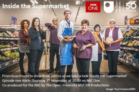 Inside the supermarket poster